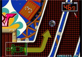 In game image of The Irritating Maze / Ultra Denryu Iraira Bou on the Arcade.