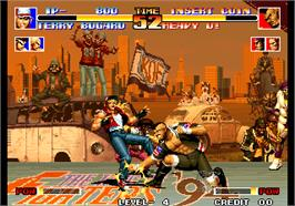 In game image of The King of Fighters '94 on the Arcade.
