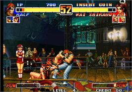 In game image of The King of Fighters '96 on the Arcade.