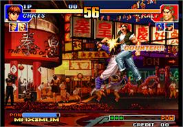 In game image of The King of Fighters '97 Plus on the Arcade.