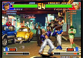 In game image of The King of Fighters '98 - The Slugfest / King of Fighters '98 - dream match never ends on the Arcade.