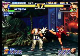 In game image of The King of Fighters '99 - Millennium Battle on the Arcade.