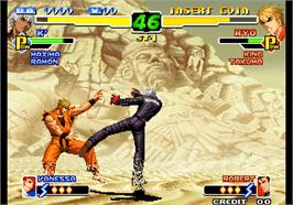 In game image of The King of Fighters 2000 on the Arcade.