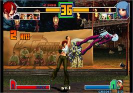 In game image of The King of Fighters 2001 on the Arcade.