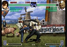 In game image of The King of Fighters 2002 on the Arcade.