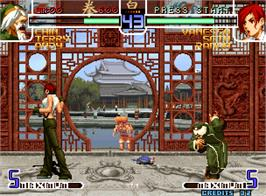 In game image of The King of Fighters 2002 Magic Plus on the Arcade.