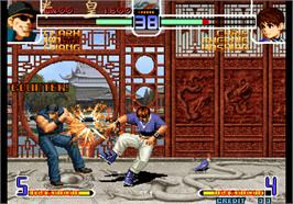 In game image of The King of Fighters 2002 Magic Plus II on the Arcade.