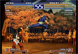 In game image of The King of Fighters 2003 on the Arcade.