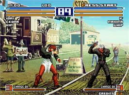 In game image of The King of Fighters 2004 Ultra Plus on the Arcade.