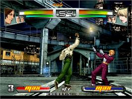 In game image of The King of Fighters Neowave on the Arcade.