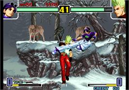 In game image of The King of Fighters Special Edition 2004 on the Arcade.