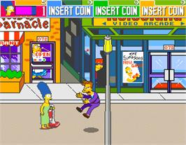 In game image of The Simpsons on the Arcade.