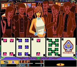 In game image of Three Ds - Three Dealers Casino House on the Arcade.