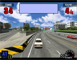 In game image of Thrill Drive on the Arcade.