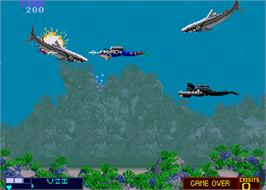 In game image of ThunderJaws on the Arcade.