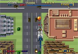 In game image of Thunder Blade on the Arcade.