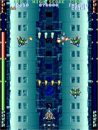 In game image of Thunder Blaster on the Arcade.