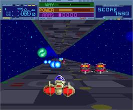 In game image of Thunder Ceptor on the Arcade.