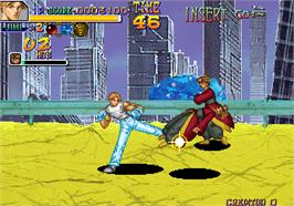 In game image of Thunder Heroes on the Arcade.