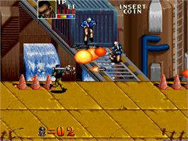 In game image of Thunder Zone on the Arcade.