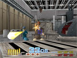 In game image of Time Crisis on the Arcade.