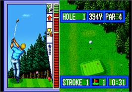 In game image of Top Player's Golf on the Arcade.