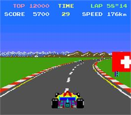 In game image of Top Racer on the Arcade.