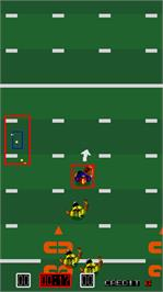 In game image of TouchDown Fever 2 on the Arcade.