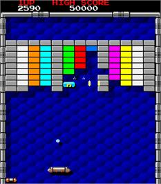 In game image of Tournament Arkanoid on the Arcade.