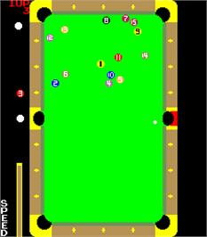 In game image of Tri-Pool on the Arcade.
