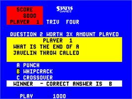 In game image of Triv Four on the Arcade.