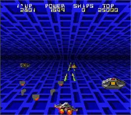 In game image of Tube Panic on the Arcade.