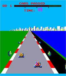 In game image of Turbo on the Arcade.