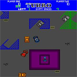 In game image of Turbo Tag on the Arcade.