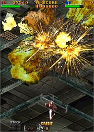 In game image of Twin Eagle II - The Rescue Mission on the Arcade.