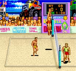 In game image of U.S. Championship V'ball on the Arcade.