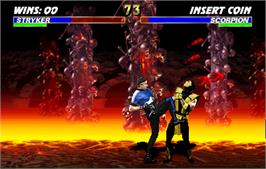 In game image of Ultimate Mortal Kombat 3 on the Arcade.