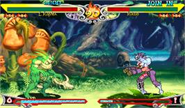 In game image of Vampire Savior: The Lord of Vampire on the Arcade.
