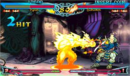 In game image of Vampire Savior 2: The Lord of Vampire on the Arcade.