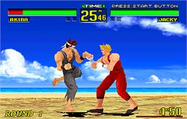 In game image of Virtua Fighter Remix on the Arcade.