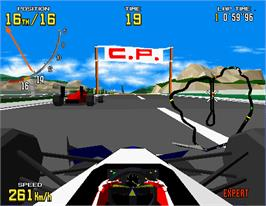 In game image of Virtua Formula on the Arcade.