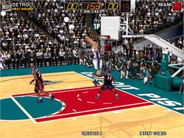 In game image of Virtua NBA on the Arcade.