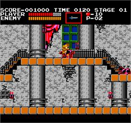 In game image of Vs. Castlevania on the Arcade.