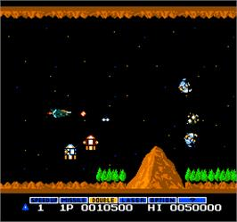 In game image of Vs. Gradius on the Arcade.