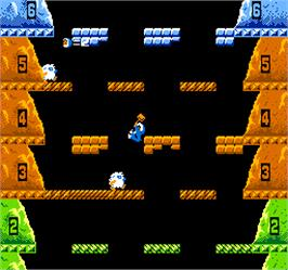 In game image of Vs. Ice Climber on the Arcade.