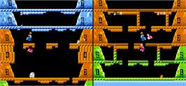 In game image of Vs. Ice Climber Dual on the Arcade.