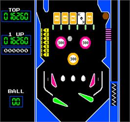 In game image of Vs. Pinball on the Arcade.