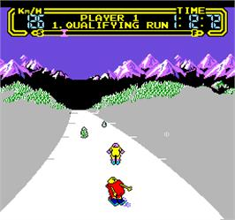 In game image of Vs. Slalom on the Arcade.