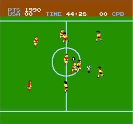 In game image of Vs. Soccer on the Arcade.