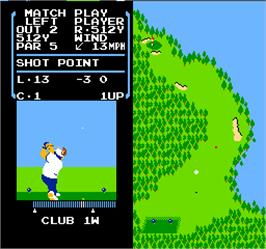 In game image of Vs. Stroke & Match Golf on the Arcade.